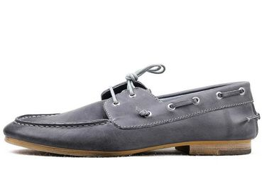 Burnished Cowhide Leather Classic Men's Handsewn Boat Shoes Loafer shoes Slip on shoes