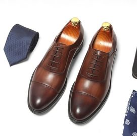 চীন Genuine Leather Lining Formal Business Shoes Comfortable Mens Dress Shoes সরবরাহকারী
